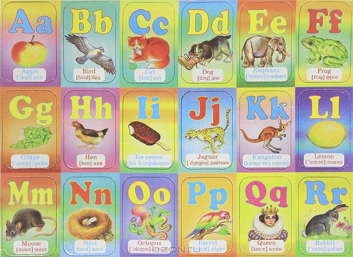 Магнитная азбука Английская - цена 92 р Дошкольная литература